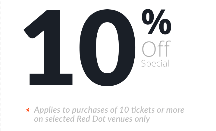 10% off tickets